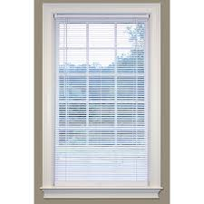 Shop SafeTrac 1 in Cordless White Vinyl Room Darkening Mini Blinds