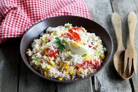 cuisine salade de riz recette salade de riz en pas à pas