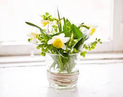 Floral Arrangement In Glass Vase For Table Decoration
