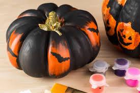 Halloween Crafts Using Stencils To Paint Pumpkins Uteki