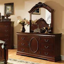 furniture of america ashburia english style dresser and mirror set