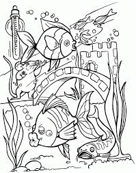 Cute Little Fish Coloring Page For Kids Animal