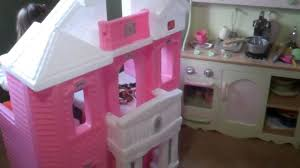 Step2 Furniture Toys by The Girls And Their Step2 Grand Balcony Dollhouse Youtube