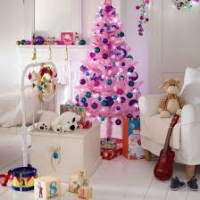 Pink And Blue Christmas Tree For A Little Girls Room