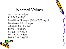 bun levels normal range fluid and electrolyte abnormalities ppt