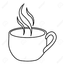 Silhouette Cup Coffee With Smoke Vector Illustration Royalty Free Rh 123rf Com Graphics Background Clip Art For Vinyl