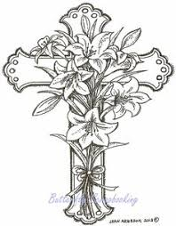 How To Draw A Lily Flower Over Cross