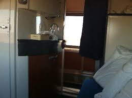 sink and mirror in the superliner bedroom picture of california