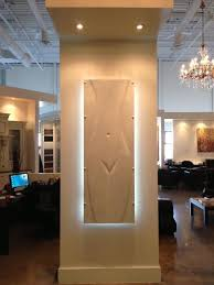 thermal wall panel with led light mody marble trend showroom