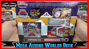 pokemon cards 2016 world chionships mega audino ex deck opening