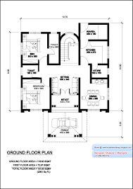 Photo Of Floor Plan For 2000 Sq Ft House Ideas by Kerala Villa Plan And Elevation 2061 Sq Home Appliance