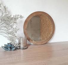 runde wandspiegel auf holzrahmen badezimmer spiegel kreis spiegel dekorative spiegel industriespiegel boho spiegel