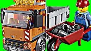 100 Lego City Dump Truck Tipper DUMP TRUCK Set 4434 Animated Building Review YouTube