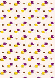 Beautiful Scrapbook Backgrounds Printable Free Tea Pattern Paper With Cups And Tiny Cupcakes