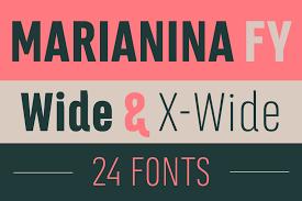 Marianina Extended Font Family 24 Fonts