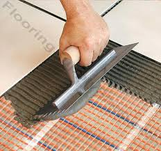 heated tile floors tile how to install radiant floor heat heated