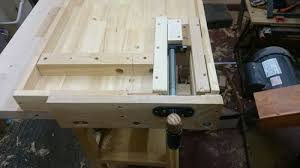 harbor freight workbench improvement 2 completed the wagon vise