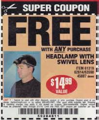 Head Lamp by Harbor Freight Free Item Coupons Struggleville