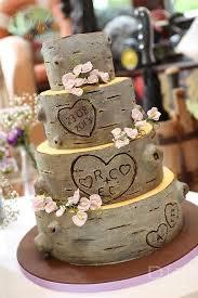 Best Tree Bark Wedding Cake