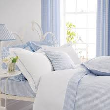 Pale Blue Gingham Bedding