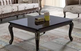 casa padrino barock couchtisch schwarz gold 104 x 80 x h 45 cm massivholz wohnzimmertisch im barockstil barock wohnzimmer möbel