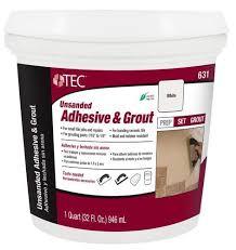 tec unsanded adhesive grout 631 mastic 1 quart at menards