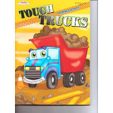 100 Tough Trucks Kappa Colouring And Activity Book 96 Pg By Kappa