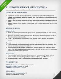 Customer Service Call Center Fuctional Resume Sample Qualifications Summary Relevant Skills