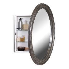 Framed Oval Recessed Medicine Cabinet by Amazon Com Zenith Pmv2532bb Oval Mirror Medicine Cabinet