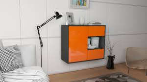 sideboard brownsville orange hängend 92x79x35cm