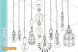 edison light bulb clip png illustrations creative market