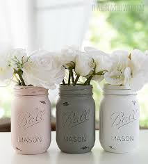How To Paint Distress Mason Jars Pink Gray White Jar Set