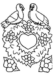 Love Birds Printable Bird Valentine Day Coloring Sheets