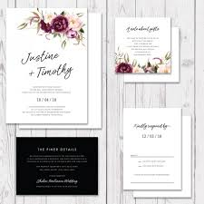 Stunning Wedding Invitation With Watercolour Florals Rustic Garden Invite Professionally Printed Peach Perfect