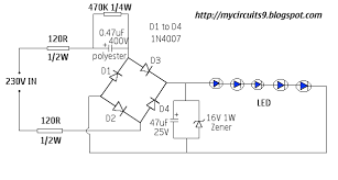 230v ac led driver circuit without transformer my circuits 9