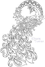 Art Nouveau Peacock Tattoo By Metacharis DeviantART Find This Pin And More On Adult Coloring Book