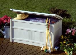 Suncast Patio Storage Box by Waterproof Outdoor Storage Boxes With Lid