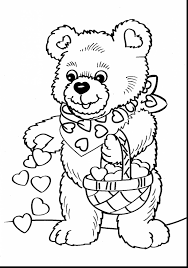 Stunning Valentines Day Teddy Bear Coloring Pages With Free Printable And
