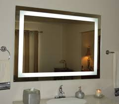 home decor wall mounted mirror with light industrial bathroom