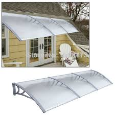 Ship from UK 1m x 3m Garden Patio Door Canopy Cover Front and