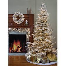 75 Ft Pre Lit Flocked Pine Christmas Tree