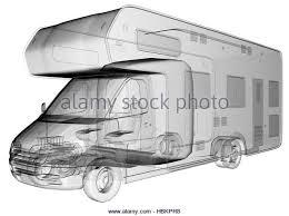 Transparent Camper Van Isolated