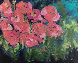 And Mexican S Libby Anderson Daily Painting Easy Spring Flower Paintings Wall
