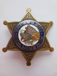 federal bureau of justice federal bureau of prisons depertment of justice badges