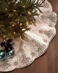 Kim Seybert Chandelier Christmas Tree Skirt Store Elegant Trees Holiday