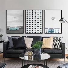 auto landschaft malerei kindergarten kinder zimmer qualität wand kunst home decor decor wohnzimmer poster leinwand malerei kein rahmen e192