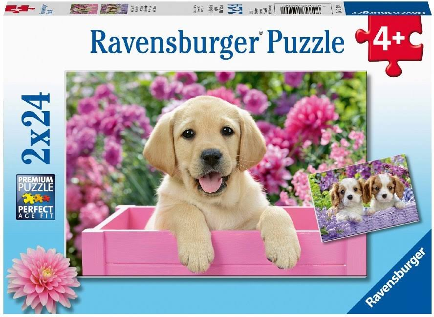 Ravensburger Children's Jigsaw Puzzle 2 x 24 Pieces Friends with Fur from 4 Year