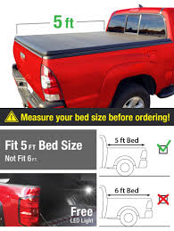 Amazon.com: MaxMate Tri-Fold Truck Bed Tonneau Cover Works With 2015 ...