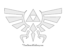 Mario Pumpkin Carving Templates by The Legend Of Zelda Triforce Symbol Stencil Free Stencil Gallery