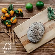 schneidebrett holz groß 41 x 28 x 2 cm holzbrett für küche umweltfreundlich und aus birkenholz hergestellt holzschneidebrett für brot gemüse